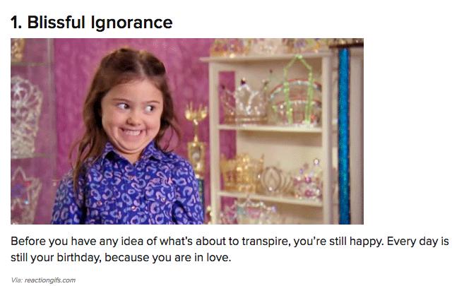 Blissful Ignorance